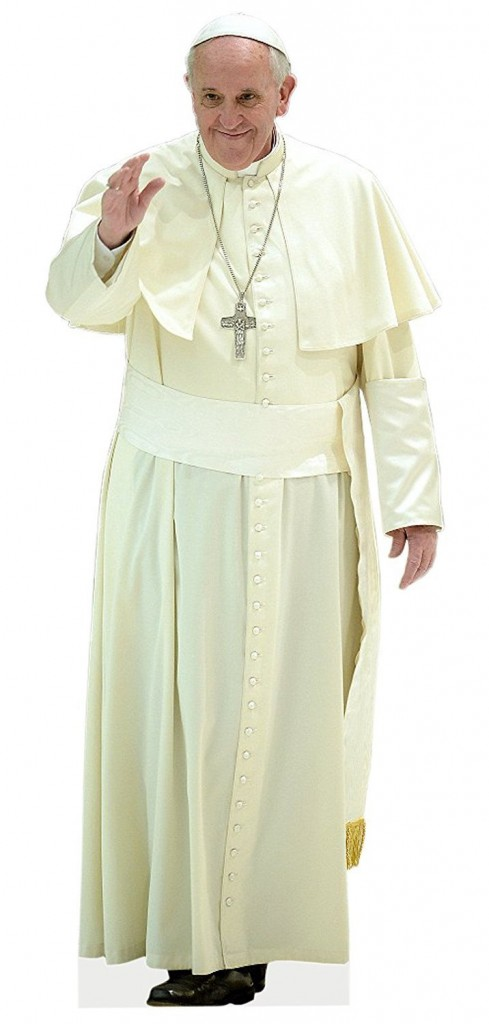 Aahs Engraving Pope Francis Life Size Cutout Standee 5ft