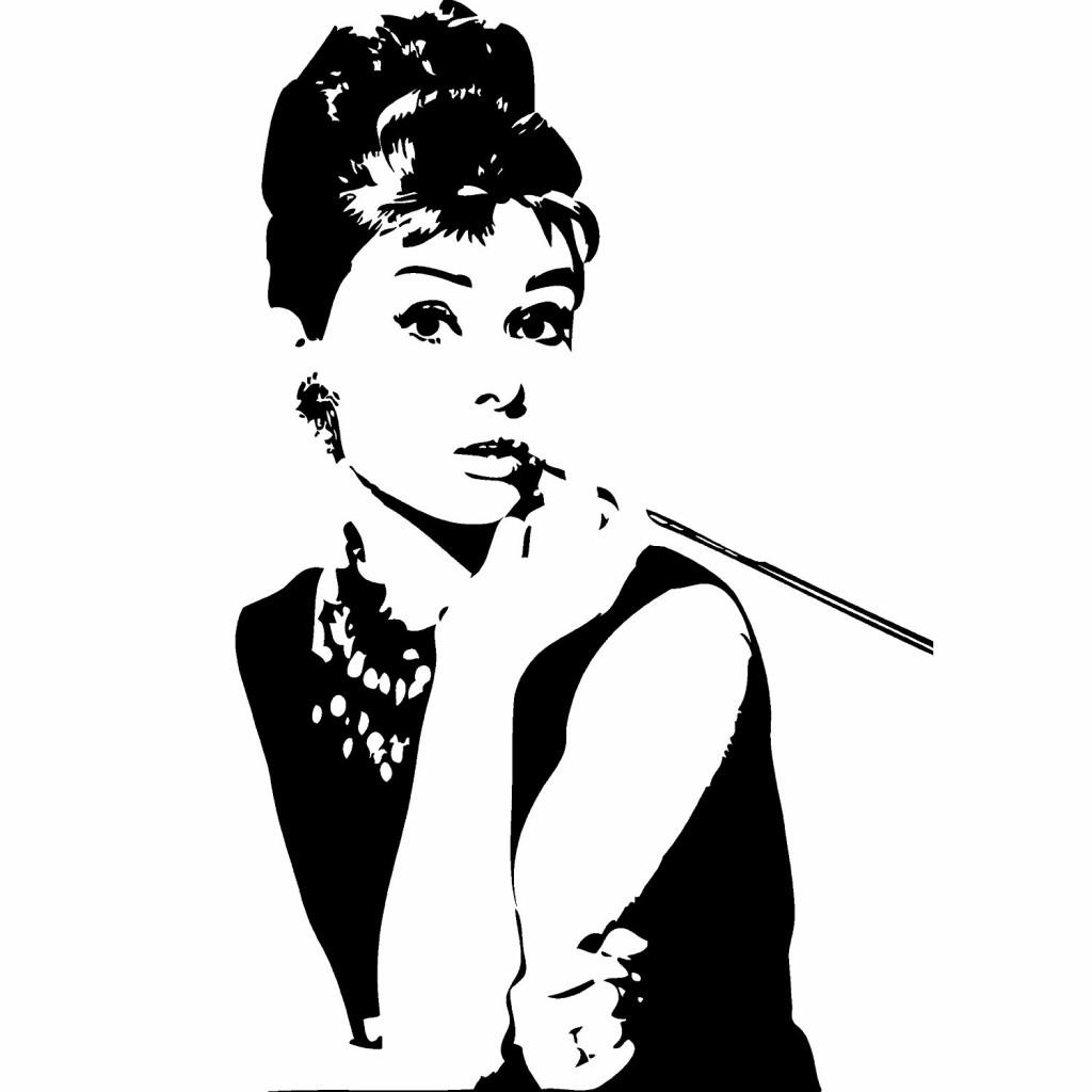 Audrey Hepburn Breakfast At Tiffany's Wall Sticker Deca