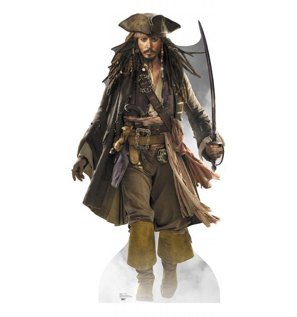 Captain Jack Sparrow Disney's Pirates Of The Caribbean Advanced Graphics Life Size Cardboard Standup