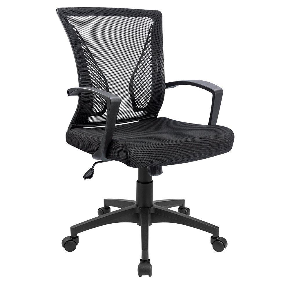 Furmax Office Chair Mid Back Swivel Lumbar Support Desk Chair