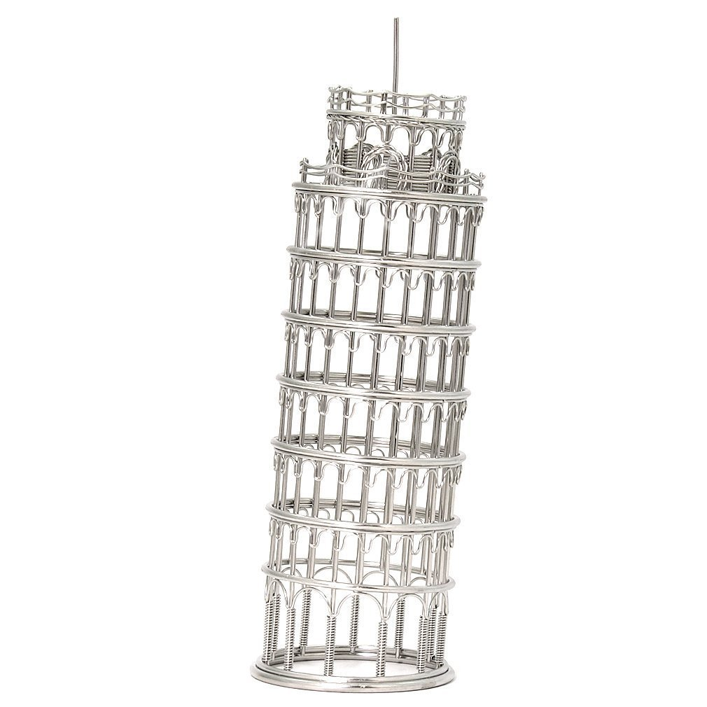 Leaning Tower Of Pisa Architectural Wire Sculpture Doodles Destinations