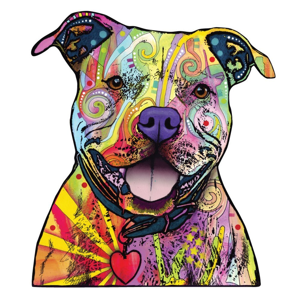 My Wonderful Walls Animal Pop Art By Dean Russo Beware Of Pit Bulls Wall Sticker Cut Out
