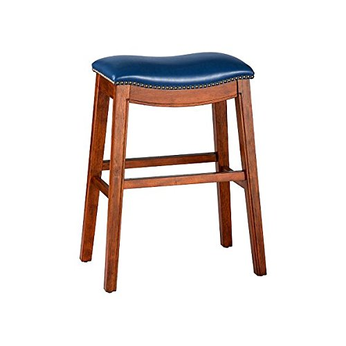 Navy Blue 30 Backless Bar Stool