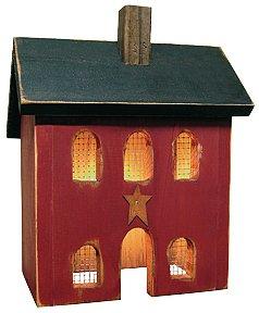 Saltbox Lighted House