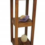 The ORIGINAL SULA Square Three Tier Teak Bath Stand