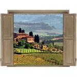 Walls 360 Peel & Stick Wall Decals Window Views Tuscany